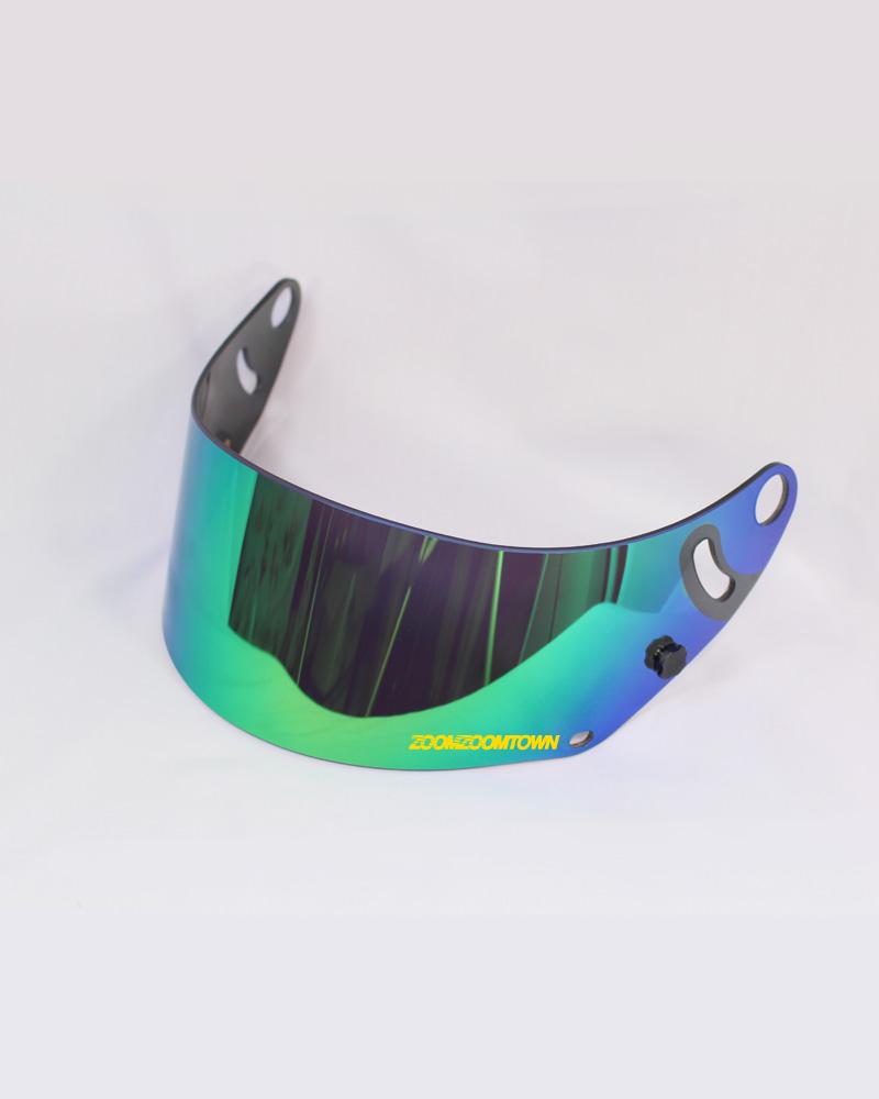 Arai iridium green mirror visor gp6 series zoomzoomtown for Mirror visor